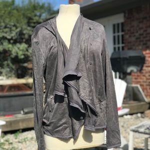 Gray Miilla Asymmetrical Button Lightweight Jacket